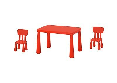 Ikea Mammut Childrens Kids Garden Indoor Outdoor Table And 2 Chairs