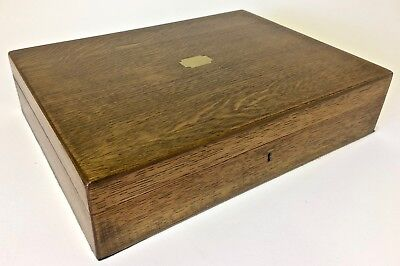 Restored antique/vintage oak jewellery box, or for collections etc Circa 1900