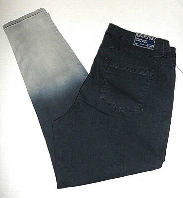 """NWT Bandolino """"Lisbeth Ombre"""" Curvy Skinny Ankle Jeans for Women 6 8 10 12 16."""