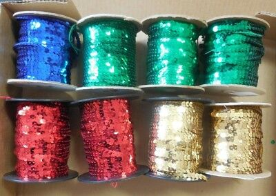 Flat Sequin NonStretch Single Strand Slung Sequin Various Colors approx. 36 yd.