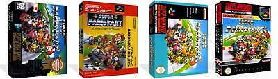 Super Mario Kart SNES Replacement Game Case Box + Cover Art work (No Game)
