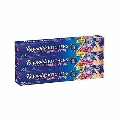 Reynolds Kitchens Plastic Wrap (225 Square Foot Roll) Pack of 3 Pack of 3 Rolls