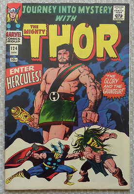 THE MIGHTY THOR #124, (Featuring Hercules) 1965 SILVER AGE CLASSIC