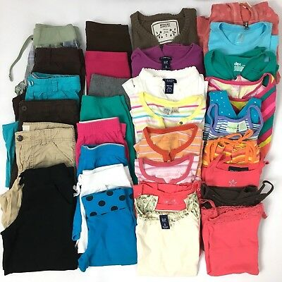 Lot of 32 Spring Summer Girls Size 7-8 Clothing Gap Union Bay Limited Too Chaps
