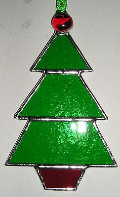 Stained Glass Christmas Tree, Suncatcher, Hand Made in England