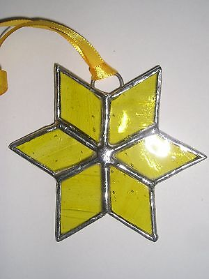 Stained Glass Star, Christmas Decoration, Suncatcher, Hand Made in England
