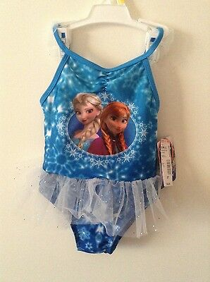 NWT Girl's Sz: 2T, Lace Ruffle Frozen Swimsuit,UPF50+Excellent UV Protection