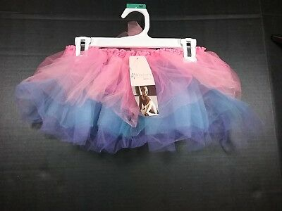 Girl's TuTu Pink Blue and Purple Freestyle by Danskin MD/LG (7-12)