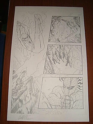 G. DELL'OTTO original art AVENGING SPIDER-MAN #14 page 4 Marvel comics FRAMED
