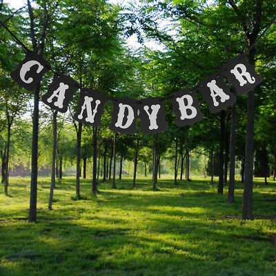 Candy Bar Banner Bunting Garland Wedding Party Baby Shower Hanging Decor