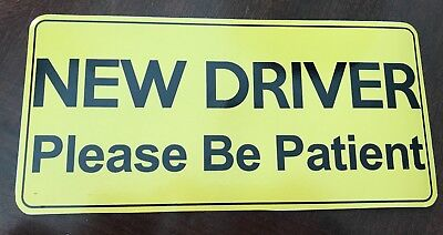"""""""New Driver Please Be Patient""""  Decal/Sticker For Car 10"""" X 4 1/2"""""""