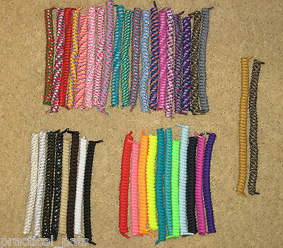 6 Pairs Curly Coiler Elastic Sports Twisty Spring No Tie Shoe Laces-Pick Colors