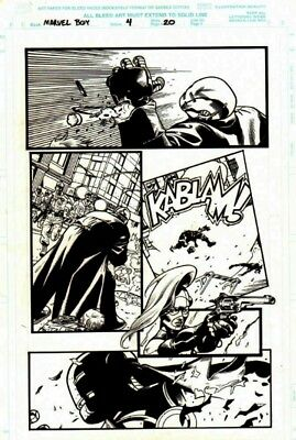 J.G Jones /Grant Morrison original art - Marvel Boy!