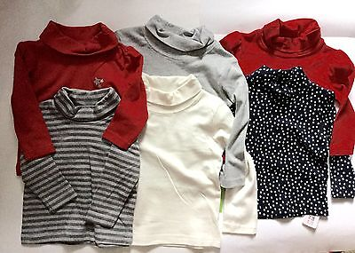 Baby Girl / Boy 2 pack Roll / Polo Neck Cotton Long Sleeve Tops