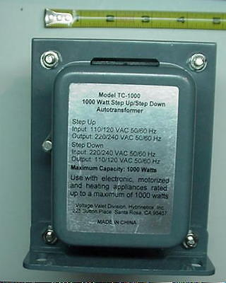 New HYBRINETICS TC-1000 STEP UP/STEP DOWN 1000 WATT TRANSFORMER