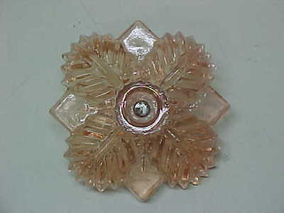 Antique Old Vintage Pink Depression Glass Curtain Tie Back Or Drawer Pull?