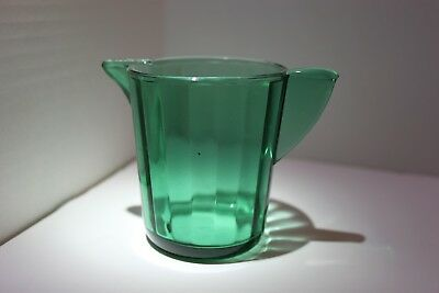 Akro Agate Small Green Transparent Interior Panel Pitcher For A Water Set