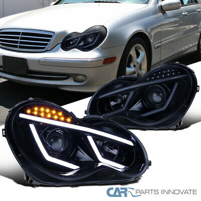FIT MERCEDES 01-07 Benz W203 C-Class Clear LED DRL & Signal