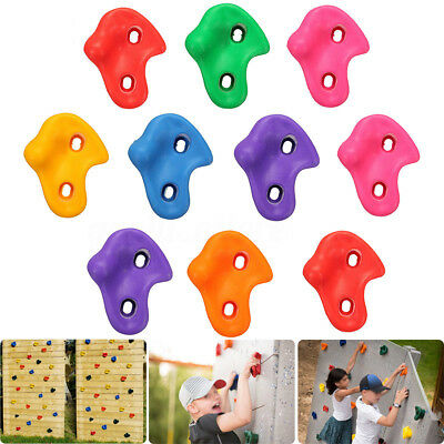 5Pcs Textured Climbing Rock Wall Stones Holds Hand Feet Kids Assorted Kit Gift