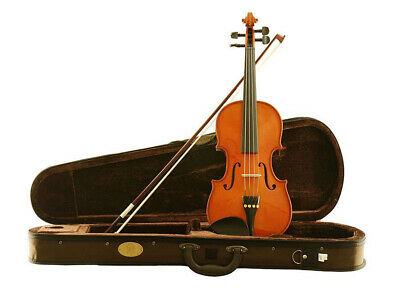 STENTOR STANDARD 4/4 VIOLIN Solid Spruce Hand Carved & Gauged Top Bow & Free ...
