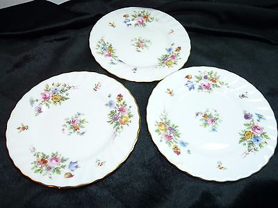 "Minton Bone China MARLOW Three (3) Bread and Butter Plates 6 1/4"" Wreath Mark"