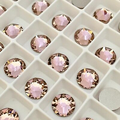 Swarovski Crystal 100 x SS12 Vintage Rose Pink flatback diamantes pretty glue on