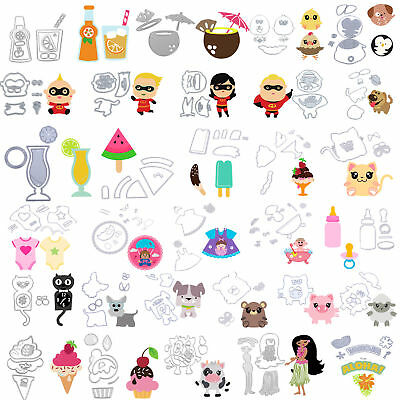 Animal Ice Cream Metal Cutting Dies Stencil Scrapbooking Cards Embossing Die Cut