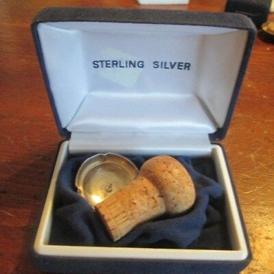 Boxed; Sterling silver Champagne cap; 18th birthday gift; millennium mark; 8g
