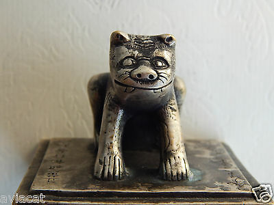 Ancient China Bronze Seal - Seated Tiger Guardian =Rare for Collection =Aviacat