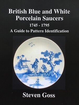 British Blue and White Porcelain Saucers 1745 - 1795. New Book, Just Published.