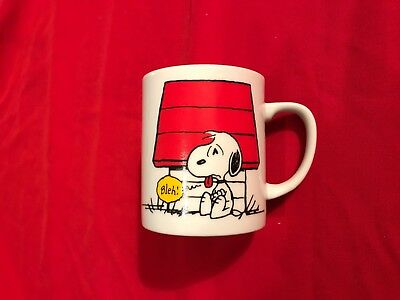 Hard to Find Peanuts 1965 Snoopy I Think I'M Allergic To Morning Bleh! Mug