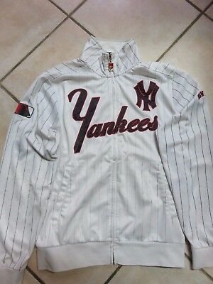 Vecchia felpa maglia Baseball NEW YORK YANKEES Cooperstown Majestic Athletic M