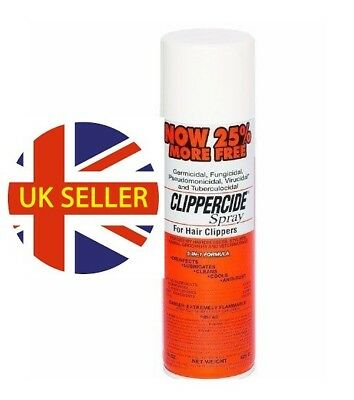 Clippercide Spray 15oz For Hair Clipper 5in1Formula 25%extra bonus size 1,3,6,12
