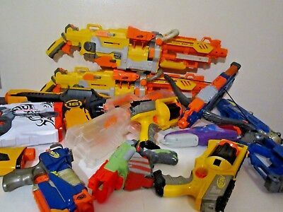 Lot of 13 Nerf Guns Used for Parts Only!