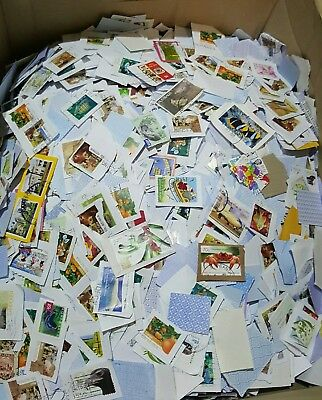 5kg of Mixed USED Australian stamps bulk kiloware (lots of 60c)