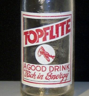 Topflite ACL Painted Label Soda Pop Bottle
