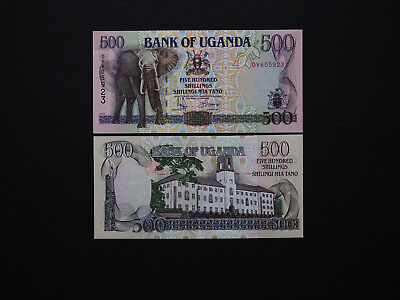 Uganda Banknotes Brilliant 500 Shillings 1990's Issue  - Great Artwork  MINT UNC