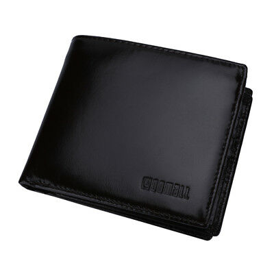 Genuine Leather Mens Wallet ZIPPER Coin Purse Vintage Retro Style with Gift Box