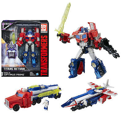 Transformers Voyager Class ~ OPTIMUS PRIME & DIAC Action Figure ~ Titans Return