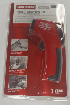 Craftsman Mini IR Non-Contact Infrared Thermometer 50455 New & Sealed!