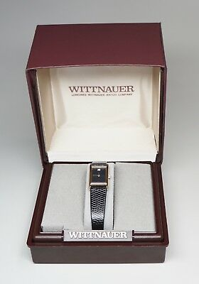 WITTNAUER New Old Stock Art Deco Style Ladies Quartz Tank Watch New Batt + Box