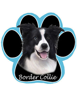 Brand New Border Collar Paw Shaped Dog Computer Mousepad - Very Cute