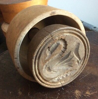 "Antique Primitive Butter Mold  ""Swan"""