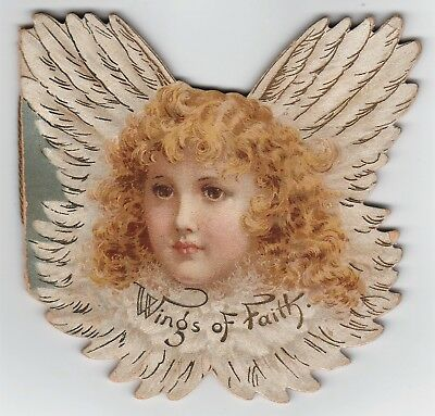 RARE Diecut Victorian ANGEL Book Color Prints Francis Brundage Raphael TUCK 1900