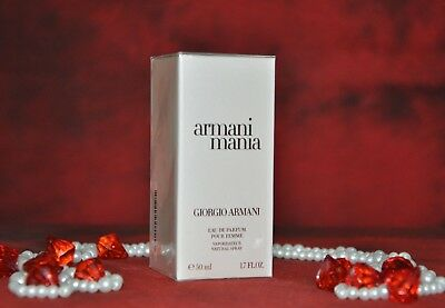 ARMANI MANIA EDP POUR FEMME 50ml., DISCONTINUED, VERY RARE, New in Box, Sealed