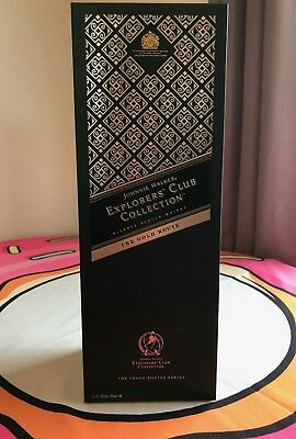 Johnnie Walker Scotch Whisky Explorers Club Gold Route 1 Litre! New In Box!