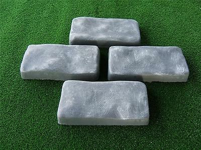 4 x  Double Cobblestone Moulds/Molds Patio Paving Make Your Own Pavers   NEW