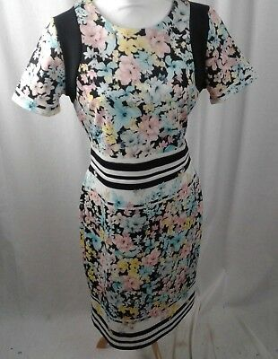 Beige by ECI Multi Color Floral Stretch Dress size 10  H19