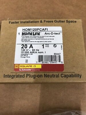Square D Homeline Hom120Pcafic  Plug In Arc-Fault Combo 20A New In Package