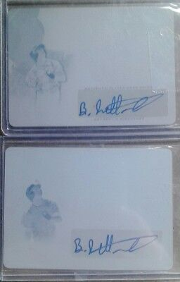 2016 leaf trinity X2 Blake Rutherford autographed printing plates. Both 1/1